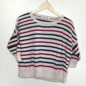 FORVER 21 | Red and Blue Striped Pullover Sweater